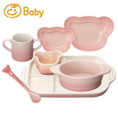 出産祝い女の子 ベビー・テーブルウェア・セット ミルキーピンク image number 0