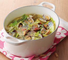 春キャベツとあさりのスープの作り方