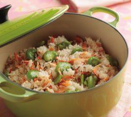 そら豆と桜えびの炊き込みご飯の作り方