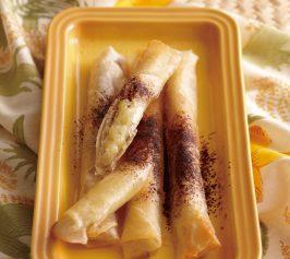 バナナの春巻きオーブン焼きの作り方