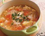 豆腐と豚ばらの春雨スープ