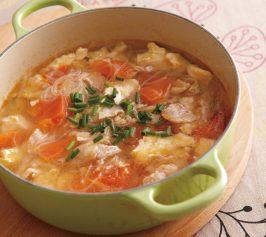 豆腐と豚ばらの春雨スープの作り方