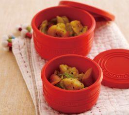 キャベツとソーセージのレンジ蒸しカレー風味の作り方