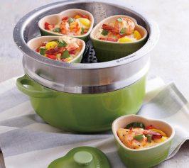 野菜と魚介の蒸しココットの作り方
