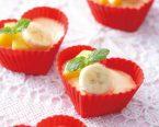 手作りバニラアイス フルーツ添え