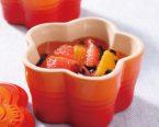 トマトとオレンジの前菜 バルサミコソースかけ