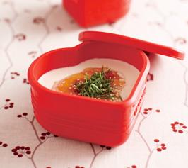 手作り豆腐梅ソースがけの作り方