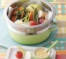 ゴロゴロ蒸し野菜とディップの作り方