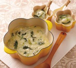 青菜たっぷり卵粥の作り方