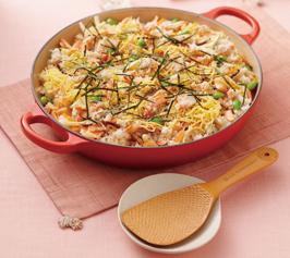 彩り炊き込み混ぜご飯の作り方