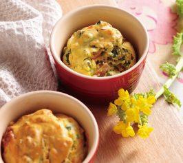 菜の花とハムのケーク・サレの作り方