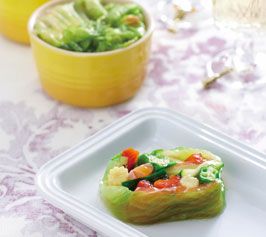 野菜とサーモンのテリーヌ