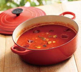 具だくさん冷製トマトスープ
