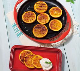 グリルオレンジ ヨーグルトクリーム添えの作り方