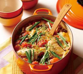 トマトチゲ鍋の作り方