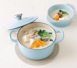 白身魚と豆腐の豆乳鍋