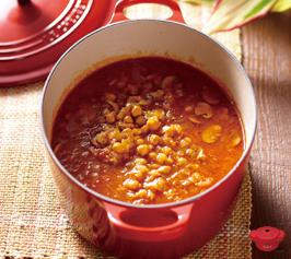ポット・カバーで作るひよこ豆のカレーの作り方