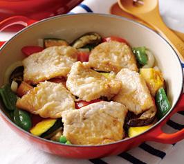 メカジキと野菜の蒸し焼きの作り方
