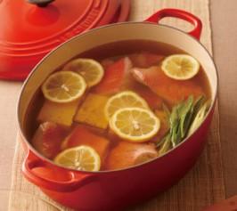 金目鯛と焼き豆腐のレモン鍋の作り方