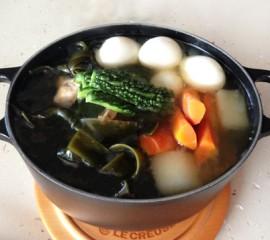 ソーキのチャンプルー鍋