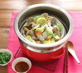 あさりと春キャベツの中華風蒸しの作り方