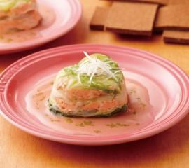 白菜と秋鮭の重ね蒸し