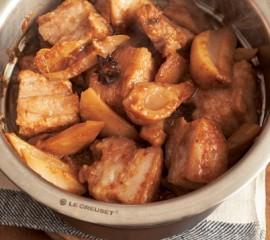 豚バラ肉とれんこんの辛味蒸し