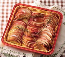 りんごのローズマリータルト