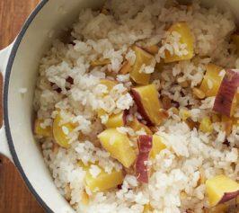 さつまいもと松の実のご飯の作り方