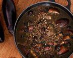 ブラック茄子と黒ゴマの坦々スープ
