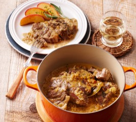 豚肉のシードル煮 焼きりんご添えの作り方