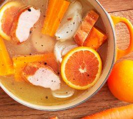 ほくほくにんじんと厚切りベーコンのオレンジポトフの作り方