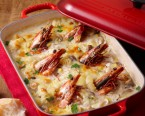 Shrimp macaroni gratin