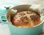 ル・クルーゼで焼くこねないパン
