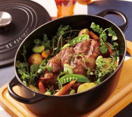 豚肉と春野菜のブーランジェール風の作り方