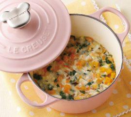 彩り野菜とお魚のホワイトシチュー