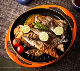 秋刀魚と秋野菜のグリルの作り方