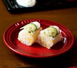 野菜の棒寿司の作り方