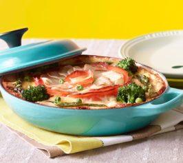 春野菜のサーモンプディングの作り方