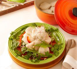 水晶鶏のサラダ仕立ての作り方