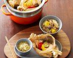 キャベツスープと鮭の紙包み蒸し、きのこ栗ご飯