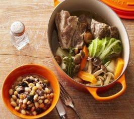 塩豚(プティ・サレ)・豆の煮込みの作り方
