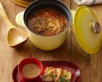 ユッケジャン風スープ(韓国風牛肉入りスープ)・海鮮チヂミ