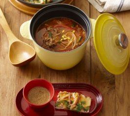 ユッケジャン風スープ(韓国風牛肉入りスープ)・海鮮チヂミの作り方