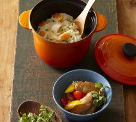 半熟卵入りポテトサラダ・手羽先の黒酢煮の作り方
