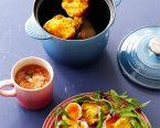 ブロッコリーのスープ・ベイクドスィートポテトサラダ