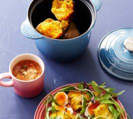 ブロッコリーのスープ・ベイクドスィートポテトサラダの作り方