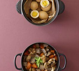 しょうゆ卵の燻製・炒り鶏の作り方
