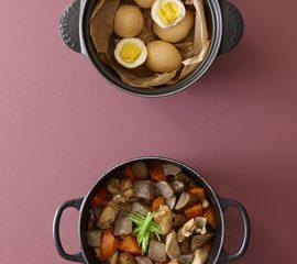 しょうゆ卵の燻製・炒り鶏