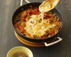 チーズタッカルビ・もやしのスープ
